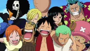 One piece characters laughing
